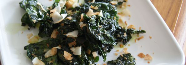 5 Minute Crispy Kale with Toasted Coconut