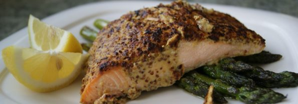"""I Am So Smart"" Mustard-Encrusted Salmon"