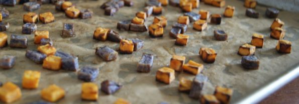 "Crunchy Sweet Potato Fries or ""Croutons"". Careful, They're Addictive"