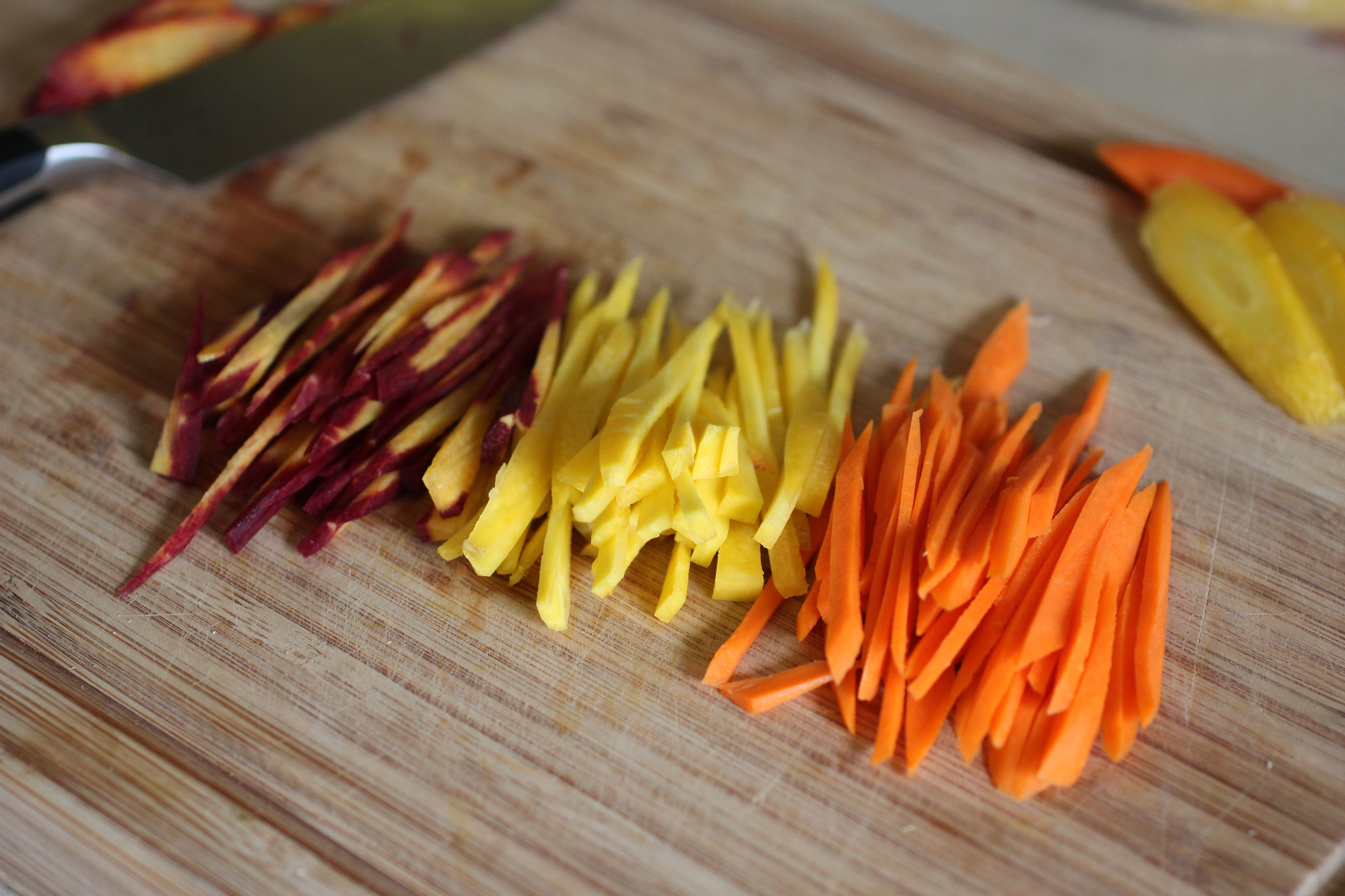 how to make matchstick vegetables